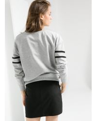 Mango - Gray Sequin Sweatshirt - Lyst