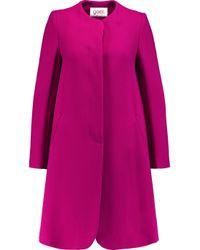 Goat Pink Wool-crepe Coat