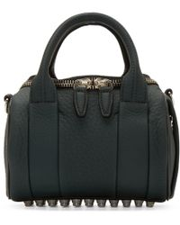 Alexander Wang | Green Rockie Coated Leather Shoulder Bag | Lyst