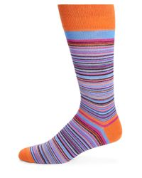 Saks Fifth Avenue | Orange Merino Wool-blend Multistriped Socks for Men | Lyst