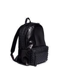 Alexander McQueen | Black Rubber Stud Coated Canvas Backpack for Men | Lyst