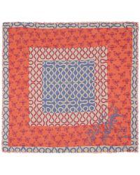 Vivienne Westwood Red Squiggle Print Woolblend Scarf