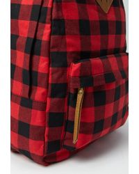 Forever 21 Red Classic Plaid Backpack