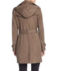 Calvin Klein - Brown Plus Belted Trench Coat - Lyst
