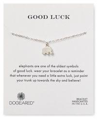 Dogeared | Metallic Good Luck Elephant Bracelet | Lyst