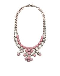 Tom Binns - Pink Neopolitano Crystal and Stone Necklace - Lyst