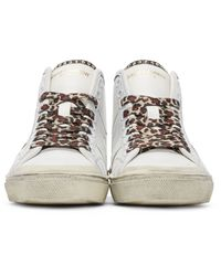 Saint Laurent - White Surf Court Classic Sl/37m High-top Sneakers - Lyst