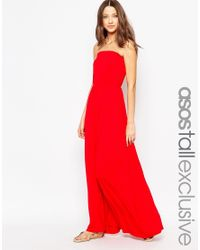 ASOS Black Bandeau Maxi Dress