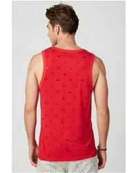 True Religion | Red Monogram Mens Tank for Men | Lyst