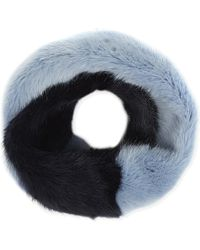 Helen Moore | Blue Two Tone Scarf | Lyst