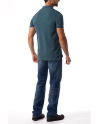Tommy Hilfiger | Blue Slim Fit Polo Top for Men | Lyst