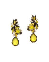 Erickson Beamon Multicolor Queen Bee Earrings - Green Multi