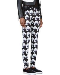 Theyskens' Theory - Black Patterned Irock Pitella Leggings - Lyst