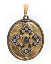 Armenta | Metallic 18k Mixed Metal & Gemstone Enhancer Pendant | Lyst