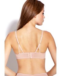 Forever 21 - Natural Sheer Floral Lace Bra - Lyst