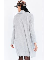 Silence + Noise Gray Drew Cardigan