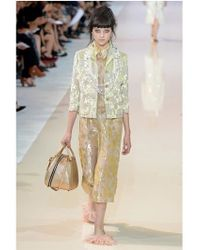 Rochas - Yellow Floral Embroidered Duchesse Jacket - Lyst