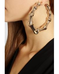 Balmain Metallic Goldplated Hoop Earrings
