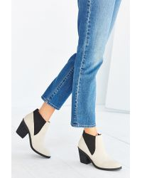 Urban Outfitters | White Elastic Ankle Boot | Lyst