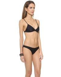 Mikoh Swimwear | Black Belize Bikini Top - Night | Lyst