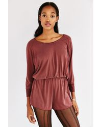 Silence + Noise Brown Donni Romper