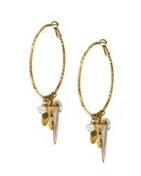 Sam Ubhi - Metallic Mixed Charms Hoop Earrings - Lyst