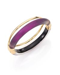 Alexis Bittar | Metallic Pop Deco Lucite Double-band Bangle Bracelet | Lyst
