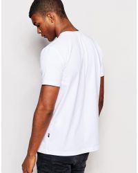 Love Moschino White T-shirt With Tattoo Print for men