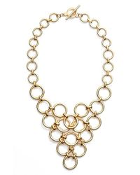 Trina Turk | Metallic Bib Necklace | Lyst