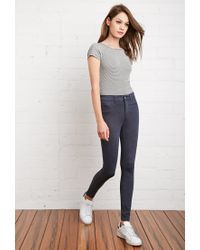 Forever 21 | Blue Skinny Heathered Pants | Lyst