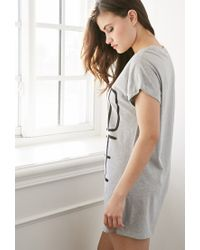 Forever 21 | Gray I Need Coffee Nightdress | Lyst