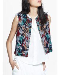 Mango Multicolor Embroidery Vest