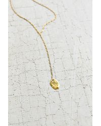 Urban Outfitters | Metallic Flat Disc Lariat Necklace | Lyst