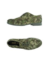 Replay Green Lace-up Shoes for men