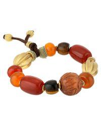 Lauren by Ralph Lauren | Multicolor Caravan Large Multi Beads with Suede Stretch Bracelet | Lyst