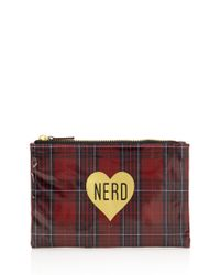 Forever 21 - Red Plaid Nerd Cosmetic Pouch - Lyst