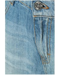 BOSS Orange - Blue Boyfriend Shorts With Vintage Effects: 'orange J70 Phoenix' - Lyst