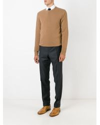 Canali - Gray Tailored Trousers for Men - Lyst