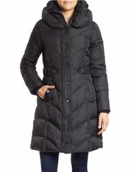 DKNY | Black Plus Pillow Collar Puffer Coat | Lyst