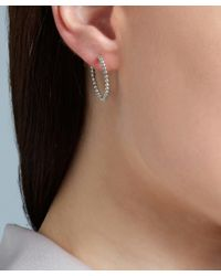 Astley Clarke | Metallic Gold-plated Beaded Hoop Earrings | Lyst