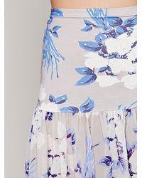 Free People - Blue Rosalita Printed Maxi - Lyst