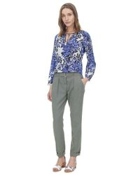 Rebecca Taylor Green Belted Twill Pant