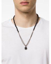 M Cohen | Metallic Agate Skull Charm Necklace for Men | Lyst