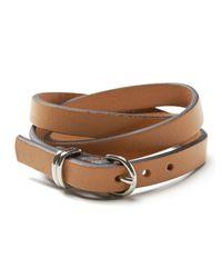 Banana Republic | Metallic Leather Triple-wrap Bracelet | Lyst