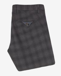 Ted Baker Gray Rothman Brushed Cotton Checked Trousers for men
