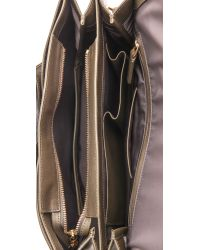 Time's Arrow Gray Helene Small Shoulder Bag Militaire