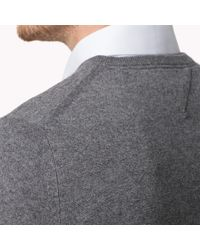 Tommy Hilfiger Gray Kevin V-Neck Sweater for men
