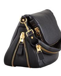 Tom Ford Womens Jennifer Large Calfskin Shoulder Bag Black