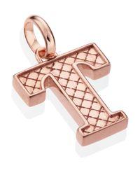 Monica Vinader | Pink Rose Gold-plated Alphabet Pendant T | Lyst