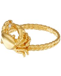 Alex Monroe - Metallic Gold-plated Crab Diamond Ring - Lyst
